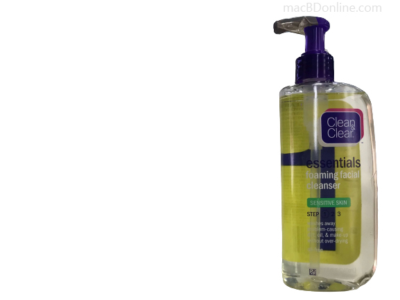 Clean & Clear Essentials Foaming Face Wash for Sensitive Skin