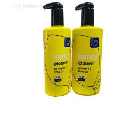 CLEAN & CLEAR Lemon Gel Cleanser, Cuts through oil & dissolves dirt